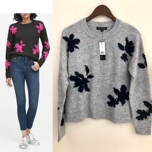 NWT, Banana Republic Floral sweater, still in pkg